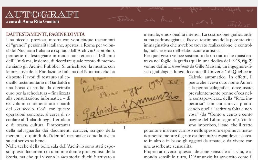 B) ESPERTO D'Annunzio