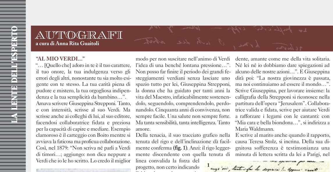 Giupeppina Strepponi, Charta